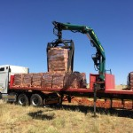 Delivery of plaster bricks